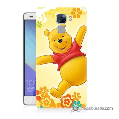 Teknomeg Huawei Honor 7 Kapak Kılıf Ayı Winnie Baskılı Silikon
