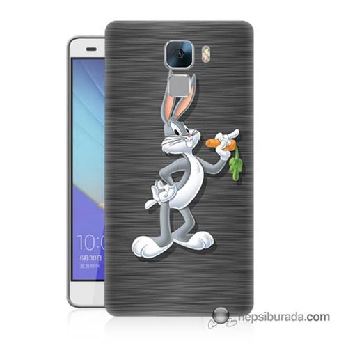 Teknomeg Huawei Honor 7 Kapak Kılıf Bugs Bunny Baskılı Silikon