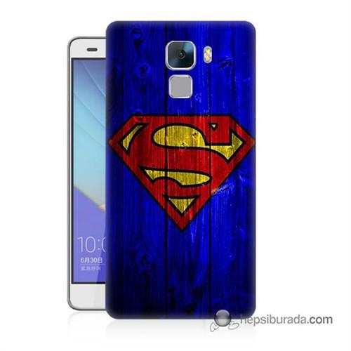 Teknomeg Huawei Honor 7 Kapak Kılıf Superman Baskılı Silikon