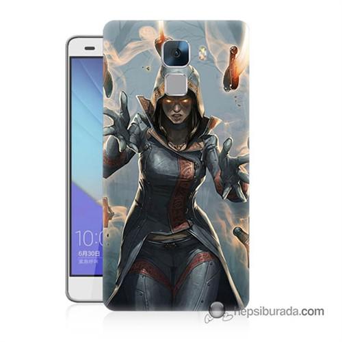 Teknomeg Huawei Honor 7 Kapak Kılıf Büyücü Baskılı Silikon