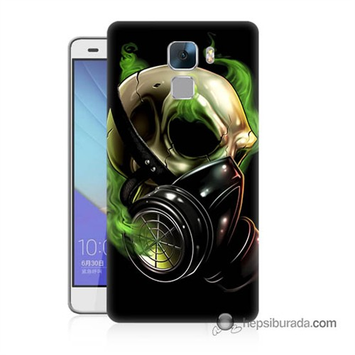 Teknomeg Huawei Honor 7 Kapak Kılıf Ölüm Maskesi Baskılı Silikon