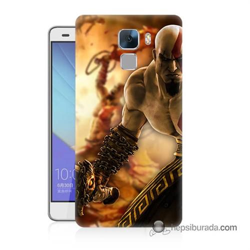 Teknomeg Huawei Honor 7 Kapak Kılıf God Of War Baskılı Silikon