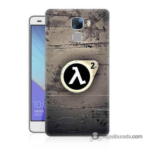 Teknomeg Huawei Honor 7 Kapak Kılıf Half Life Baskılı Silikon