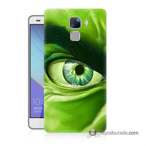 Teknomeg Huawei Honor 7 Kapak Kılıf Hulk Yeşil Dev Baskılı Silikon