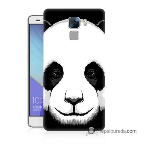 Teknomeg Huawei Honor 7 Kapak Kılıf Panda Baskılı Silikon
