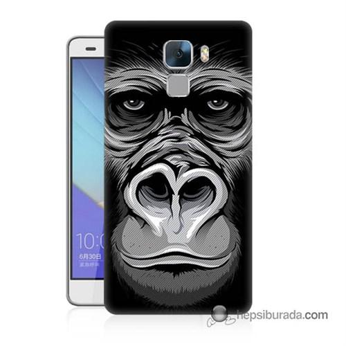 Teknomeg Huawei Honor 7 Kapak Kılıf Goril Baskılı Silikon