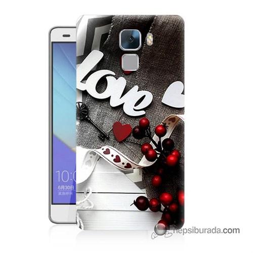 Teknomeg Huawei Honor 7 Kapak Kılıf Love Baskılı Silikon