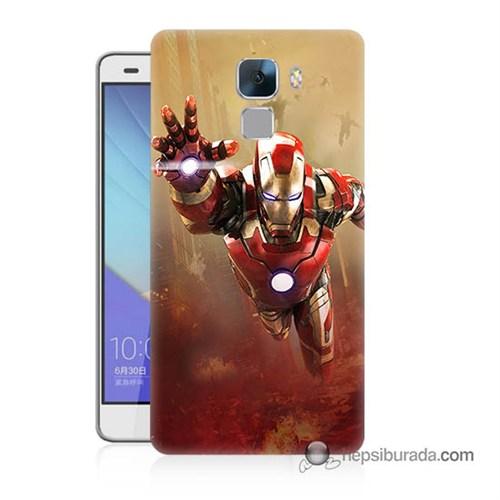 Teknomeg Huawei Honor 7 Kapak Kılıf Demir Adam Baskılı Silikon