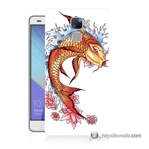 Teknomeg Huawei Honor 7 Kapak Kılıf Balık Baskılı Silikon
