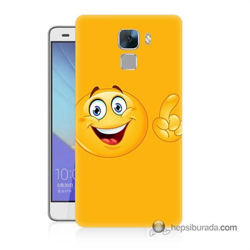 Teknomeg Huawei Honor 7 Kapak Kılıf Emoji Baskılı Silikon