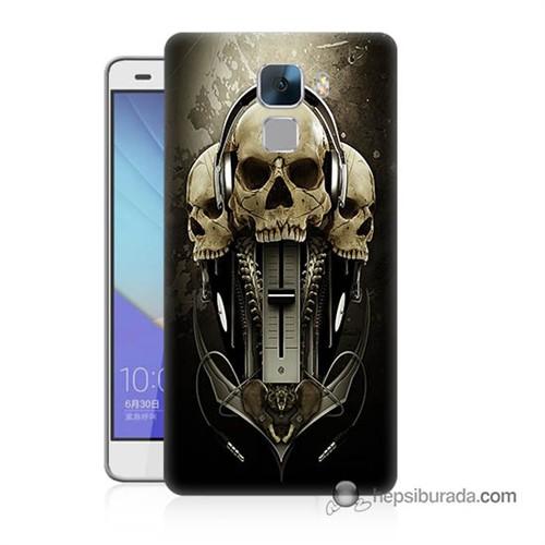 Teknomeg Huawei Honor 7 Kapak Kılıf İskeletler Baskılı Silikon