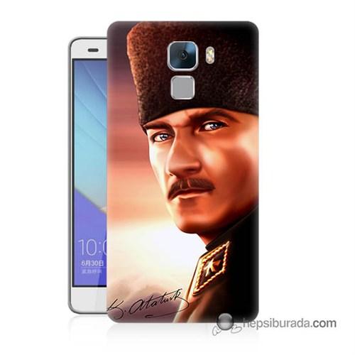 Teknomeg Huawei Honor 7 Kapak Kılıf Mustafa Kemal Baskılı Silikon