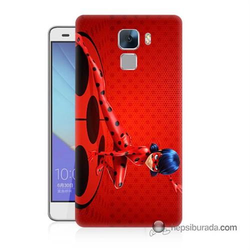 Teknomeg Huawei Honor 7 Kapak Kılıf Sevimli Kahraman Baskılı Silikon