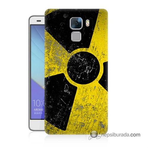 Teknomeg Huawei Honor 7 Kapak Kılıf Radyasyon Baskılı Silikon