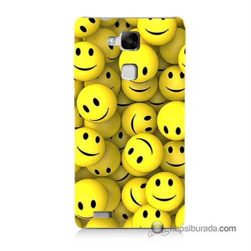 Teknomeg Huawei Mate 7 Kapak Kılıf Smile Baskılı Silikon