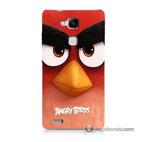 Teknomeg Huawei Mate 7 Kapak Kılıf Angry Birds Baskılı Silikon