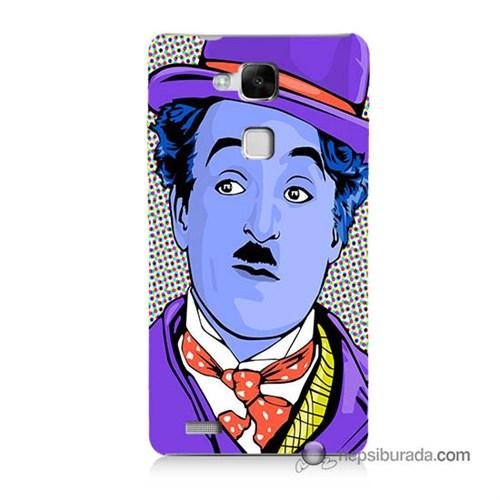 Teknomeg Huawei Mate 7 Kapak Kılıf Charlie Chaplin Baskılı Silikon