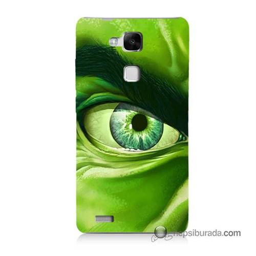 Teknomeg Huawei Mate 7 Kapak Kılıf Hulk Yeşil Dev Baskılı Silikon