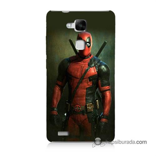 Teknomeg Huawei Mate 7 Kapak Kılıf Deadpool Baskılı Silikon