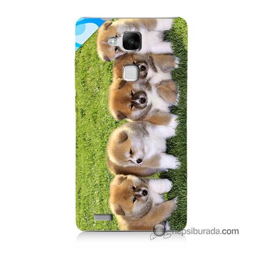 Teknomeg Huawei Mate 7 Kapak Kılıf Sevimli Köpek Baskılı Silikon
