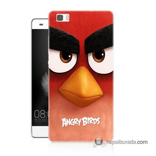 Teknomeg Huawei P8 Lite Kapak Kılıf Angry Birds Baskılı Silikon