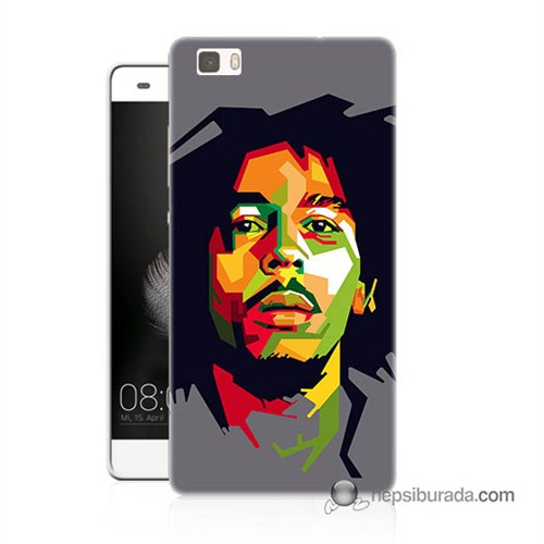 Teknomeg Huawei P8 Lite Kapak Kılıf Bob Marley Baskılı Silikon
