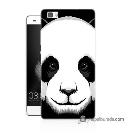 Teknomeg Huawei P8 Lite Kapak Kılıf Panda Baskılı Silikon