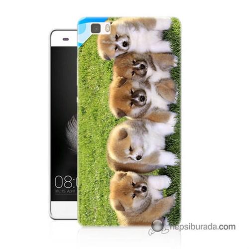 Teknomeg Huawei P8 Lite Kapak Kılıf Sevimli Köpek Baskılı Silikon