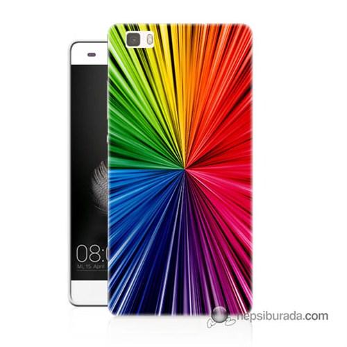Teknomeg Huawei P8 Lite Kapak Kılıf Renkler Baskılı Silikon