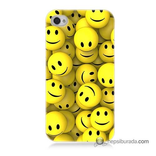 Teknomeg İphone 4 Kapak Kılıf Smile Baskılı Silikon