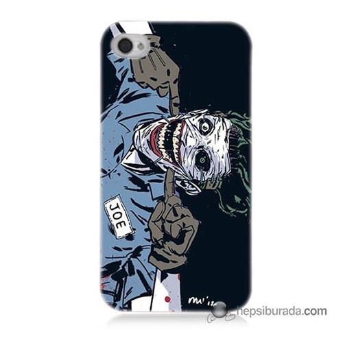 Teknomeg İphone 4 Kapak Kılıf Joe Joker Baskılı Silikon