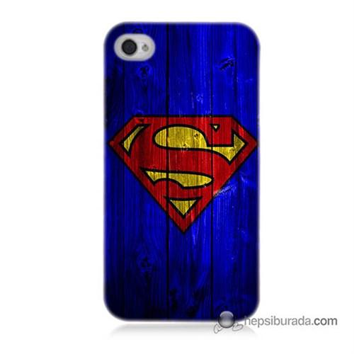 Teknomeg İphone 4 Kapak Kılıf Superman Baskılı Silikon