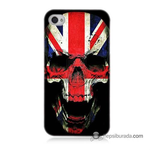 Teknomeg İphone 4 Kapak Kılıf İngiltere Baskılı Silikon