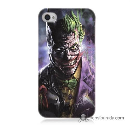 Teknomeg İphone 4 Kapak Kılıf Joker Vs Batman Baskılı Silikon
