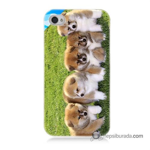 Teknomeg İphone 4 Kapak Kılıf Sevimli Köpek Baskılı Silikon