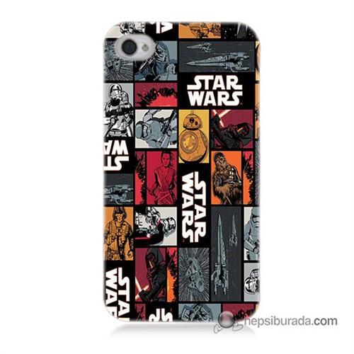 Teknomeg İphone 4S Kapak Kılıf Star Wars Baskılı Silikon