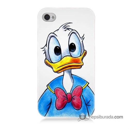 Teknomeg İphone 4S Kapak Kılıf Donald Duck Baskılı Silikon