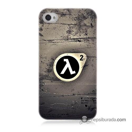 Teknomeg İphone 4S Kapak Kılıf Half Life Baskılı Silikon