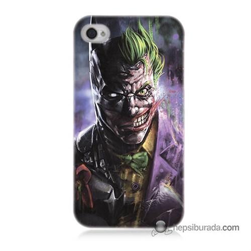 Teknomeg İphone 4S Kapak Kılıf Joker Vs Batman Baskılı Silikon