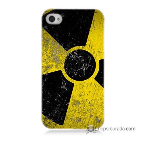 Teknomeg İphone 4S Kapak Kılıf Radyasyon Baskılı Silikon