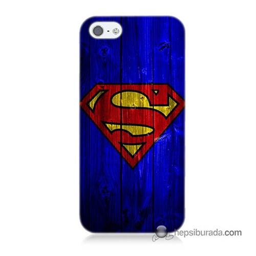 Teknomeg İphone 5 Kapak Kılıf Superman Baskılı Silikon