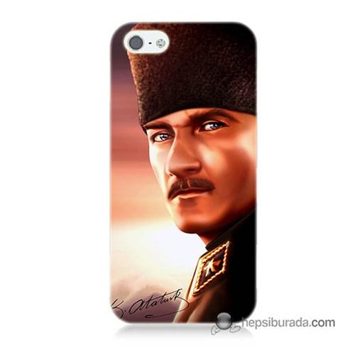 Teknomeg İphone 5 Kapak Kılıf Mustafa Kemal Baskılı Silikon