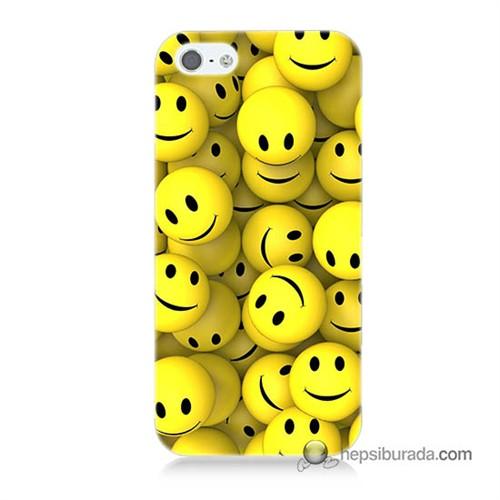 Teknomeg İphone 5S Kapak Kılıf Smile Baskılı Silikon