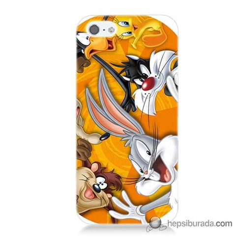 Teknomeg İphone 5S Kapak Kılıf Disney Karakterleri Baskılı Silikon