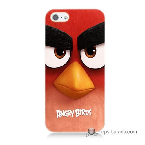 Teknomeg İphone 5S Kapak Kılıf Angry Birds Baskılı Silikon