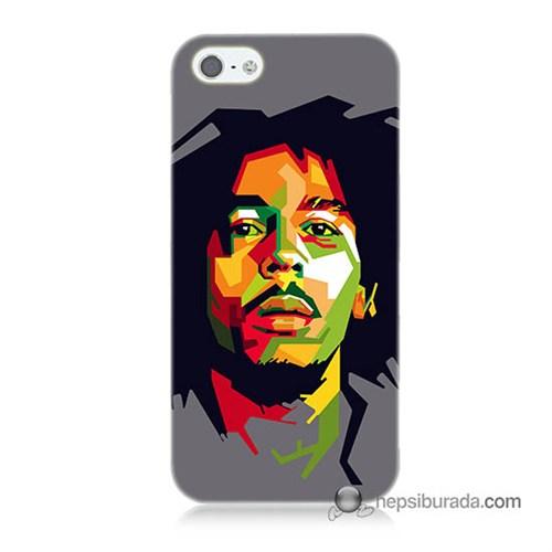 Teknomeg İphone 5S Kapak Kılıf Bob Marley Baskılı Silikon
