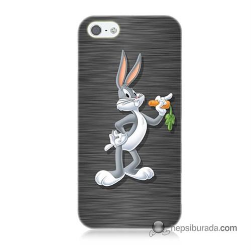 Teknomeg İphone 5S Kapak Kılıf Bugs Bunny Baskılı Silikon