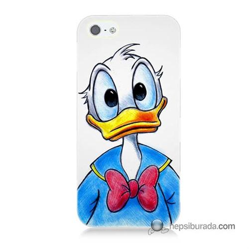 Teknomeg İphone 5S Kapak Kılıf Donald Duck Baskılı Silikon