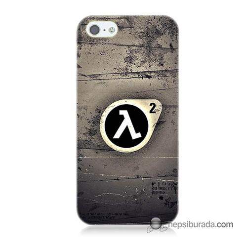 Teknomeg İphone 5S Kapak Kılıf Half Life Baskılı Silikon
