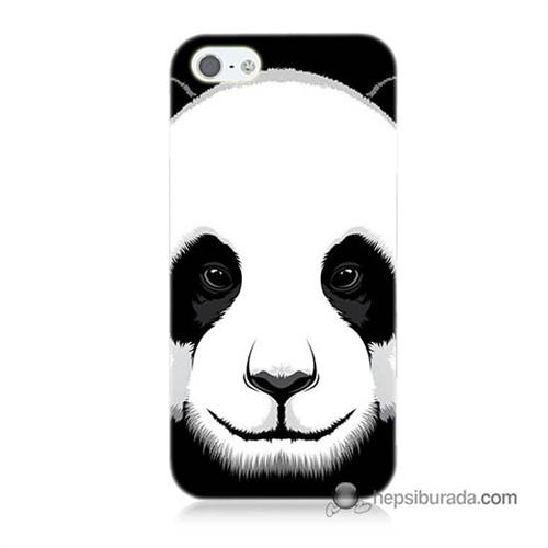 Teknomeg İphone 5S Kapak Kılıf Panda Baskılı Silikon